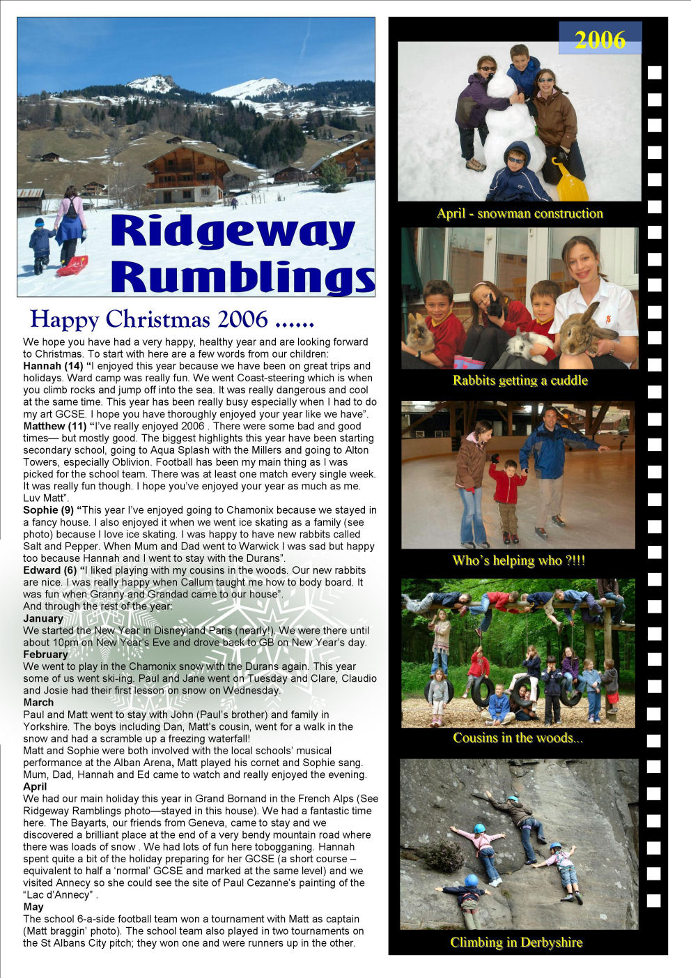 Elvidge Family News 2006